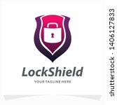 lock shield logo design template | Shutterstock .eps vector #1406127833