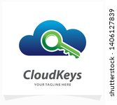 cloud keys logo design template | Shutterstock .eps vector #1406127839