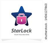 star lock logo design template | Shutterstock .eps vector #1406127863