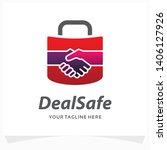deal safe logo design template | Shutterstock .eps vector #1406127926