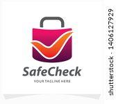 safe check logo design template | Shutterstock .eps vector #1406127929