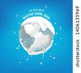 world milk day  pour milk on...   Shutterstock .eps vector #1406135969