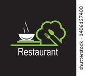 restaurant icon logo vector... | Shutterstock .eps vector #1406137400