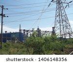 power plants meet nature ... | Shutterstock . vector #1406148356