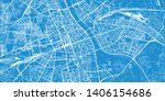 urban vector city map of warsaw ... | Shutterstock .eps vector #1406154686