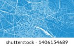 urban vector city map of... | Shutterstock .eps vector #1406154689