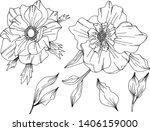 vector doodle hand drawn... | Shutterstock .eps vector #1406159000