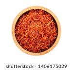 Safflower Dried In Wood Bowl O...