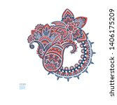 paisley isolated pattern.... | Shutterstock .eps vector #1406175209