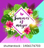 tropical summer bright... | Shutterstock .eps vector #1406176703