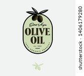 olive oil logo and label.... | Shutterstock .eps vector #1406179280