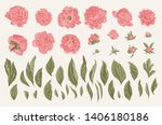 vintage vector botanical... | Shutterstock .eps vector #1406180186