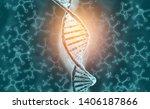 dna molecule on science ... | Shutterstock . vector #1406187866