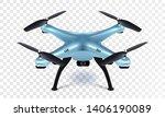 Realistic 3d Blue Drone...