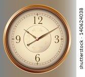 photorealistic vector clock | Shutterstock .eps vector #140624038