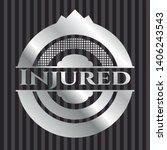 injured silvery emblem or badge....   Shutterstock .eps vector #1406243543