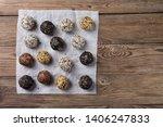 a group of energy balls lying... | Shutterstock . vector #1406247833