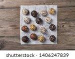 a group of energy balls lying... | Shutterstock . vector #1406247839