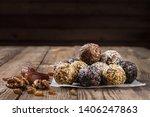 a group of energy balls lying... | Shutterstock . vector #1406247863