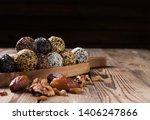 a group of energy balls lying... | Shutterstock . vector #1406247866