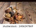 a group of energy balls lying... | Shutterstock . vector #1406247869
