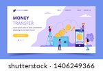 money transfer landing page ... | Shutterstock .eps vector #1406249366