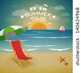 it is summer time background.... | Shutterstock .eps vector #140624968