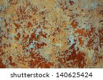 rusted metal surface | Shutterstock . vector #140625424