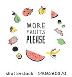 hand drawn set of vegetables ... | Shutterstock .eps vector #1406260370