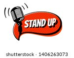 stand up comedy show sign.... | Shutterstock .eps vector #1406263073