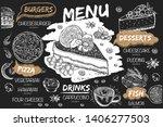 menu cafe brochure. flyer with... | Shutterstock .eps vector #1406277503