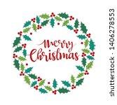 decorative christmas garland ...   Shutterstock .eps vector #1406278553