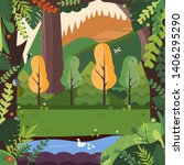 cartoon illustration background ... | Shutterstock .eps vector #1406295290