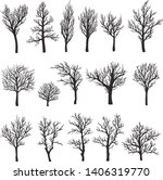 trees without leaves black... | Shutterstock .eps vector #1406319770