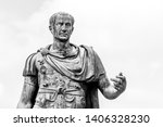 statue of roman emperor julius... | Shutterstock . vector #1406328230