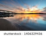spectacular sunset colors in... | Shutterstock . vector #1406329436
