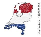 netherlands map hand drawn... | Shutterstock .eps vector #1406335550