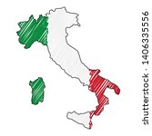 italy map hand drawn sketch.... | Shutterstock .eps vector #1406335556