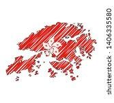 hong kong map hand drawn sketch.... | Shutterstock .eps vector #1406335580