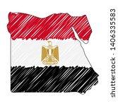 egypt map hand drawn sketch.... | Shutterstock .eps vector #1406335583