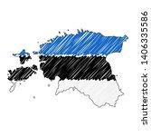 estonia map hand drawn sketch.... | Shutterstock .eps vector #1406335586