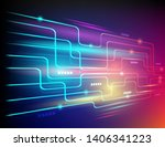 digital technology concept... | Shutterstock .eps vector #1406341223
