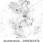 satellite map of canberra. it... | Shutterstock .eps vector #1406361476
