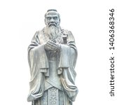 Confucius Statue Isolated On...