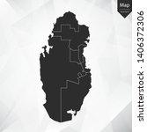 map of qatar   vector... | Shutterstock .eps vector #1406372306