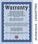 blue vintage warranty template. ... | Shutterstock .eps vector #1406397983