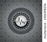 electrocardiogram icon inside... | Shutterstock .eps vector #1406398256