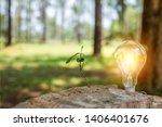 light bulb concept saving... | Shutterstock . vector #1406401676