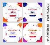 dynamic modern geometry mobile... | Shutterstock .eps vector #1406402273