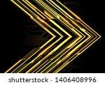abstract yellow light power... | Shutterstock .eps vector #1406408996